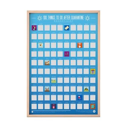 Scratch Poster - Quarantine Bucket List