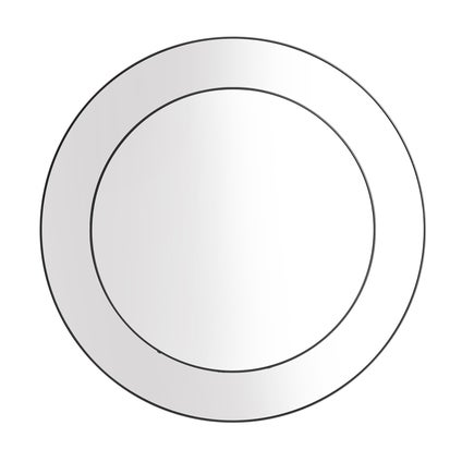 Double Deco Mirror - Black 81cm