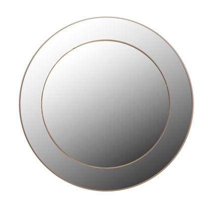 Double Deco Mirror- Gold- 81cm