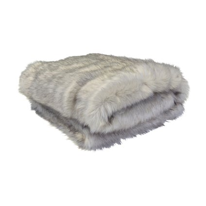 Arctic Fox Faux Throw- Grey