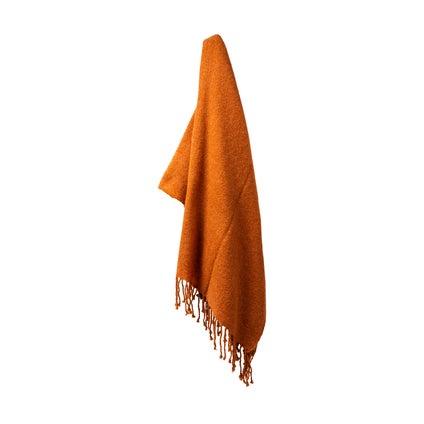 Mellor Weave Throw - Terracotta