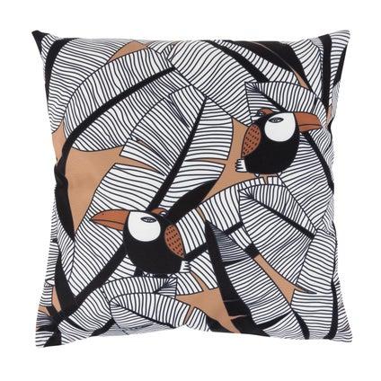 Toucan Outdoor Cushion - Terracotta/Tan