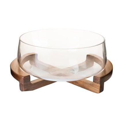 Kupu Bowl with Stand- Natural