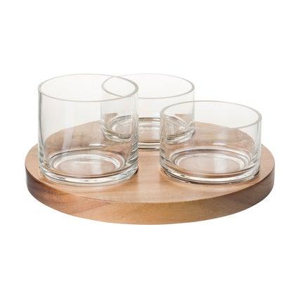 Kupu Bowls with Tray- Natural