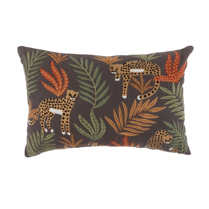 Jungle Leopards Cushion- Mustard- 35x50cm