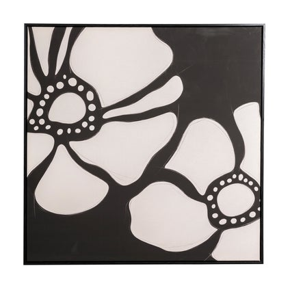 Monochrome Blooms Framed Canvas