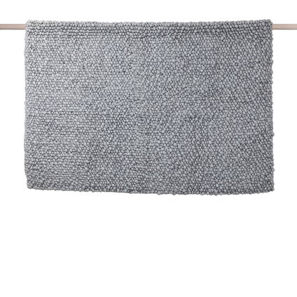 Pebble Loop Pile Rug - Silver Marble - Large