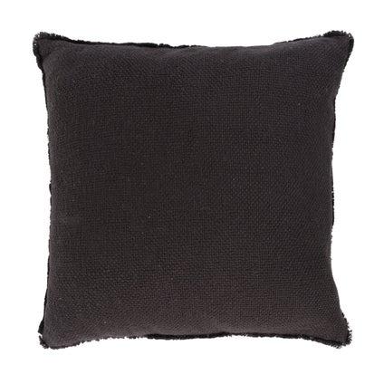 Vila Fringe Cushion - Black - 50x50cm