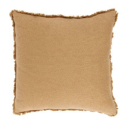Vila Fringe Cushion - Old Gold 50x50cm
