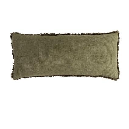 Vila Fringe Cushion - Olive 30x70cm
