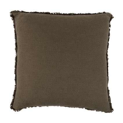 Vila Fringe Cushion - Olive 50x50cm