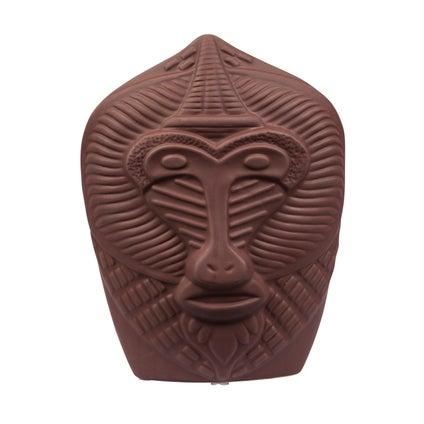 Monkey Face Vase - Brown