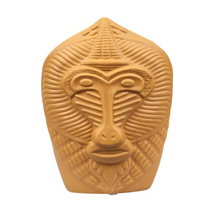 Monkey Face Vase - Mustard