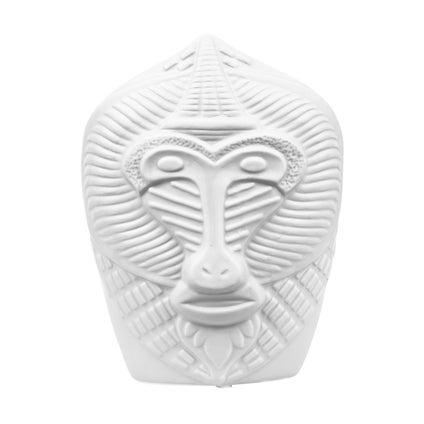 Monkey Face Vase - White