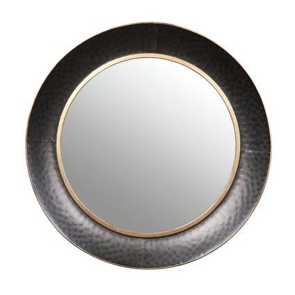 Tiku Rustic Mirror - Charcoal 88cm