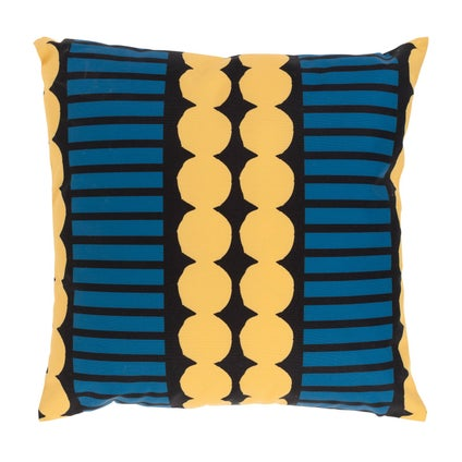 Pebble Stripe Outdoor Cushion - Atlantic/Mustard 45x45cm
