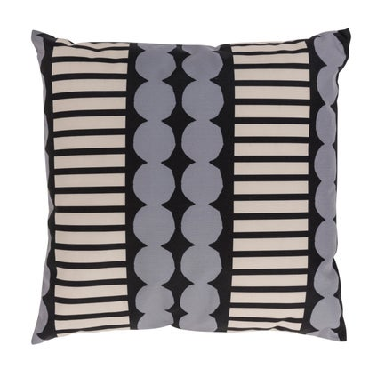 Pebble Stripe Outdoor Cushion - Graphite/Clay 45x45cm