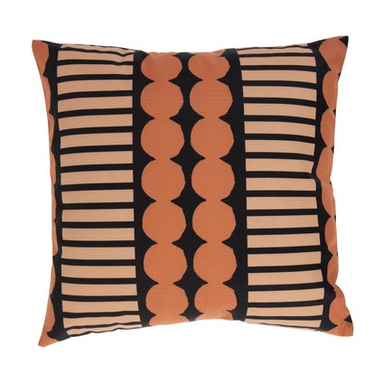 Pebble Stripe Outdoor Cushion - Terracotta/Tan 45x45cm