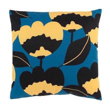 Flora Outdoor Cushion - Atlantic/Mustard 45x45cm