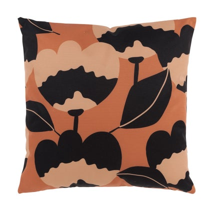 Flora Outdoor Cushion - Terracotta/Tan 45x45cm
