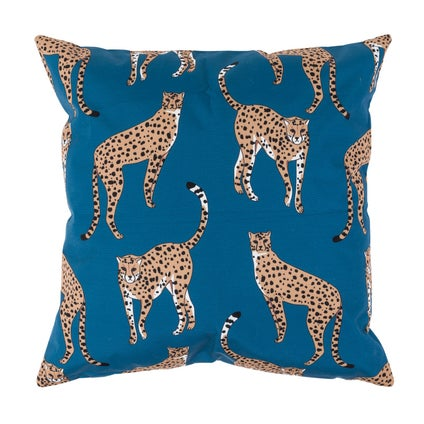 Cheetah Outdoor Cushion - Atlantic 45x45cm