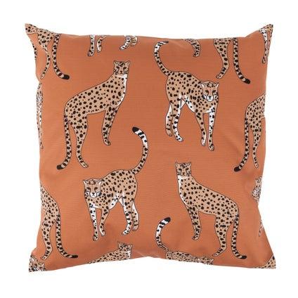 Cheetah Outdoor Cushion - Terracotta 45x45cm