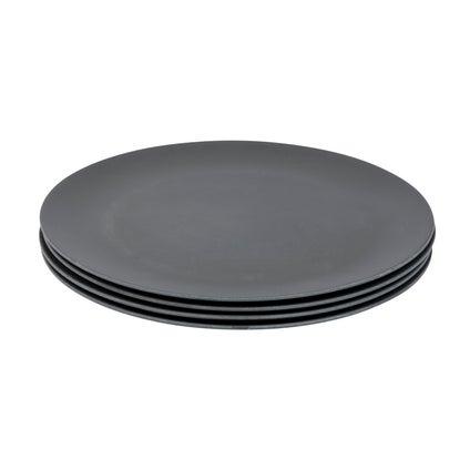 Mono Dinner Plate - Grey Set of 4