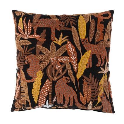 Leopard Laze Cushion - Black 50x50cm