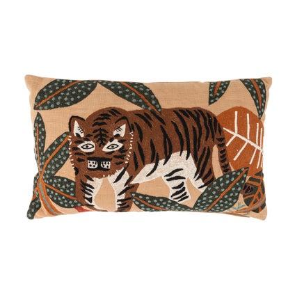 Tiger Prowl Cushion - Caramel 30x50cm