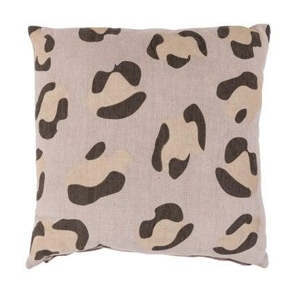 Animal Print Cushion - Clay 45x45cm