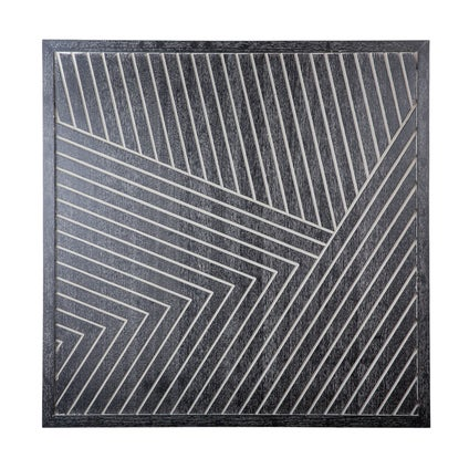 Lines Wooden Artwork - Black/Grey