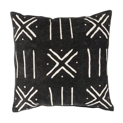 Bamako Print Cushion 50x50 - Black