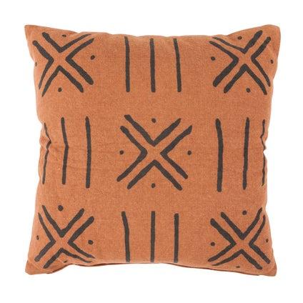 Bamako Print Cushion 50x50 - Terracotta