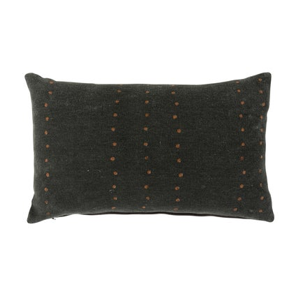 Mahali Spot Print Cushion - Black/Coco 30x50cm