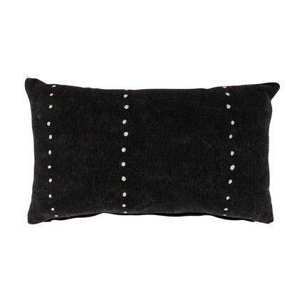 Mahali Spot Cushion 30x50 - Black