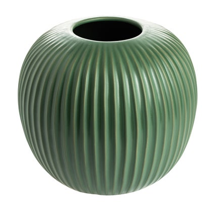 Round Ribbed Vase - Forest
