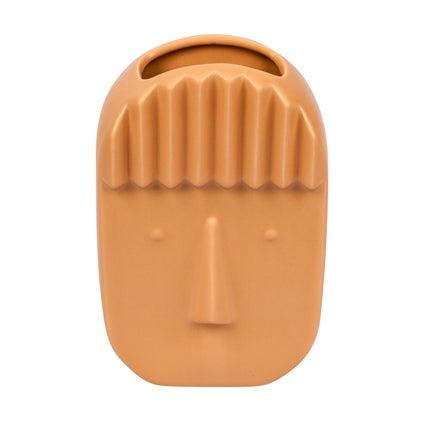 Cameron Face Vase - Caramel