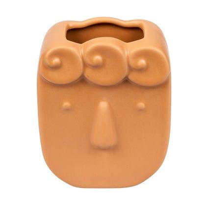 Stacy Face Vase - Caramel