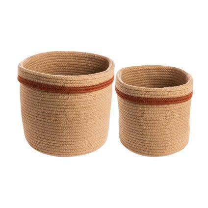 Little Cotton Baskets 2 piece - Caramel
