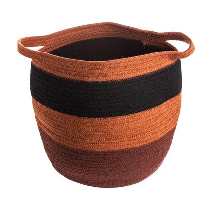Kaseta Stripe Basket - Rust