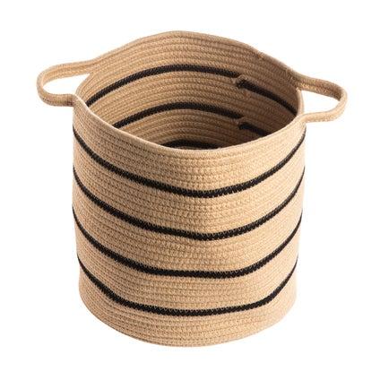 Kikka Stripe Basket - Caramel/Black