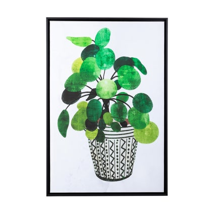 Green Plant Framed Canvas