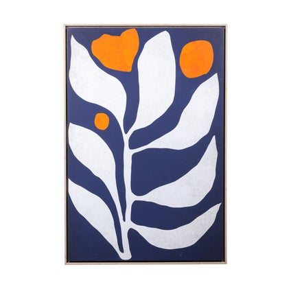 Graphic Leaves Framed Canvas
