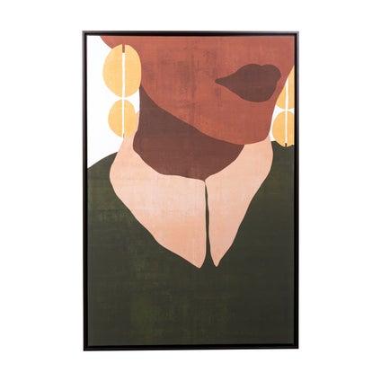The Earrings Framed Canvas