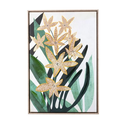 Spotted Orchids Framed Canvas
