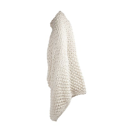 Epic Moss Knit Throw - Ivory