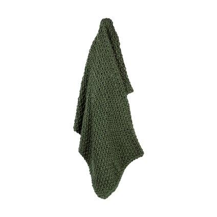 Epic Moss Knit Throw - Moss Green