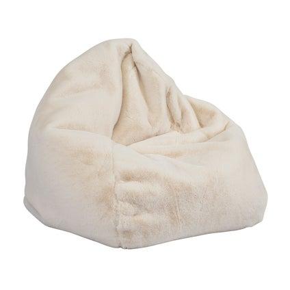Kaia Faux Fur Bean Bag Cover - Cream