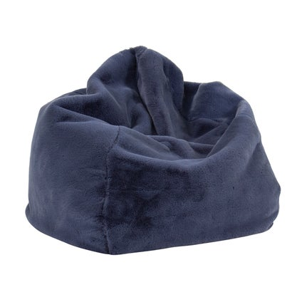 Kaia Faux Fur Bean Bag Cover - Indigo