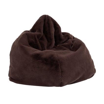 Kaia Faux Fur Bean Bag Cover - Iron